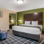 King Suite Bedroom at Quality Inn & Suites Albany