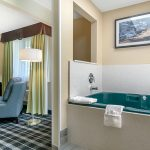 In-room Jacuzzi in the King Jacuzzi Suite at Quality Inn & Suites Albany